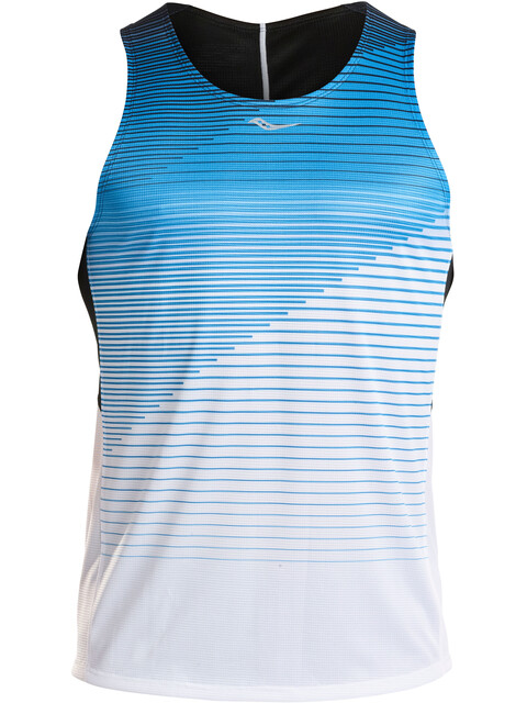 saucony Endorphin Singlet Men Blue Aster